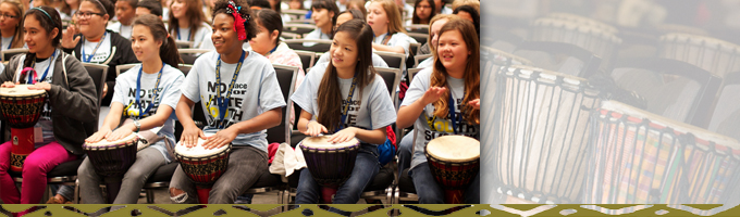 youth conference keynote drumming