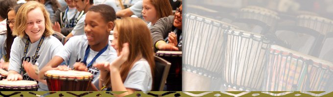 social emotional learning drumming students